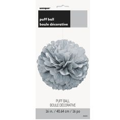 Party Souq - Silver Puff Ball Tissue Decoration|1 pc, $ 8.37