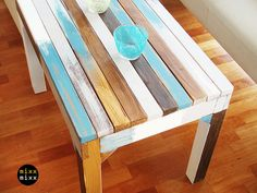 Beautiful table Paradieso BLUE  from mixx mixx by DaWanda.com