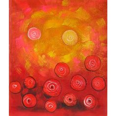 Abstract Oil Paintings [77] ❤ liked on Polyvore featuring backgrounds, art, orange and textures