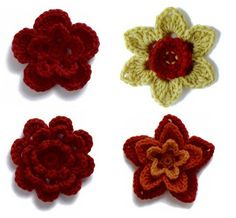 Aren't these flowers adorable? Attach them to a hat, shirt, scarf or even a headband.