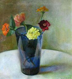 Lapis Blue Vase by Henriette Wyeth
