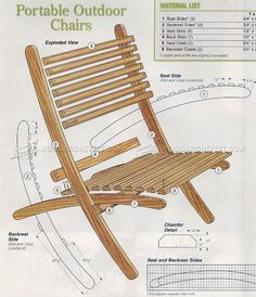 Outdoor Folding Chair Plans - Outdoor Furniture Plans