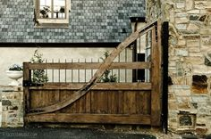 I love this driveway gate by Christopher Architects