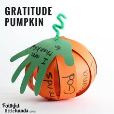 Free Printable Template Gratitude Pumpkin Kids Thanksgiving Craft I love this idea! Thanksgiving Crafts For Toddlers, Sunday School Crafts For Kids, Bible Crafts For Kids, Thanksgiving Activities, Paper Crafts For Kids, Preschool Crafts, Fall Crafts, Thanksgiving Table, Decor Crafts