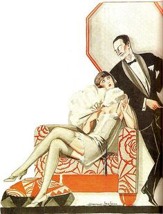 peterjohnb59:    the 1920s-Jacques Leclerc illustration by april-mo on Flickr.