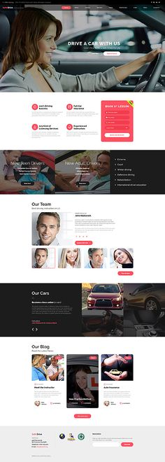 Driving School #website #template. #themes #business #responsive #websitethemes