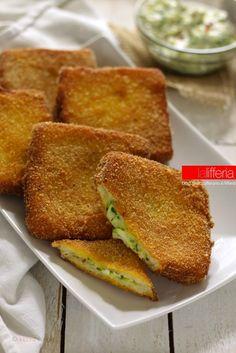 zucchine cremose in carrozza - Ricetta veloce