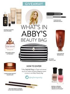 #Win What's In Abby's #Beauty Bag - Style Me Pretty's 2013 Fashion & Beauty E-Magazine! Read More here: http://www.stylemepretty.com/2013/11/12/style-me-prettys-2013-fashion-beauty-e-magazine