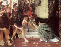 The Athenaeum - Proclaiming Claudius Emperor (Sir Lawrence Alma-Tadema - )