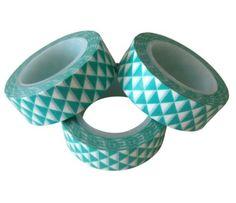 Washi tape geo grafisch mint. masking tape geometric mint