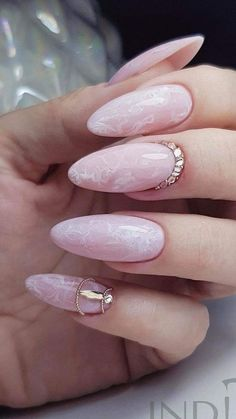 In look for some nail designs and ideas for your nails? Here's our listing of must-try coffin acrylic nails for modern women. Nail Designs Bling, French Nail Designs, White Nail Designs, Beautiful Nail Designs, Acrylic Nail Designs, Nails Design, Pink Acrylic Nails, Almond Acrylic Nails, Almond Nails