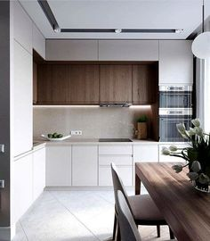 Minimalist Kitchen Ideas Beautiful Simple and Minimalism Styled. Find the best ideas for your minimalist style kitchen that suits your taste. Browse for Modern Kitchen Interiors, Luxury Kitchen Design, Kitchen Room Design, Modern Kitchen Cabinets, Kitchen Cabinet Design, Living Room Kitchen, Home Decor Kitchen, Interior Design Kitchen, Home Kitchens