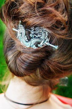 Hair Stick | Pearl Dragon | Detail