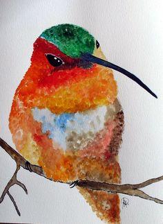 Kolibri - Original von *zeitgenössische kunst von maria-mercedes* auf DaWanda.com