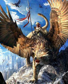 Griffin Rider  Artist: Tomasz Christowski