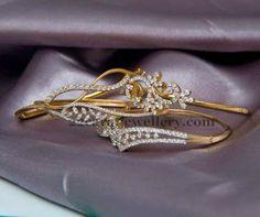 Jewellery Designs: Fancy Delicate Bracelet with Diamonds