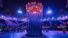 heatherwick studio: 2012 london olympics cauldron.  It may not have been an overly exciting opening ceremony, but the torch IS cool.