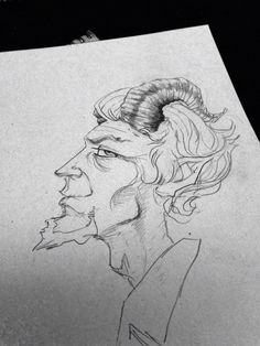 Sketch of Peter Black by David J. Anderson
