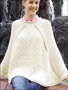 free poncho patterns with sleeves | Poncho - sleeve style ...