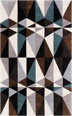 Geometric Cosmopolitan rug from Surya (COS9179-58):