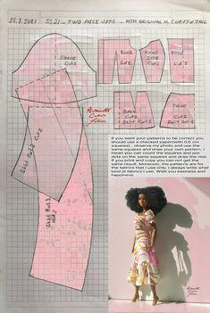 Barbie Knitting Patterns, Barbie Clothes Patterns, Doll Dress Patterns, Barbie Go, Barbie Dress, Barbie Costume, Barbie Basics, Crochet Doll Dress, Beautiful Barbie Dolls