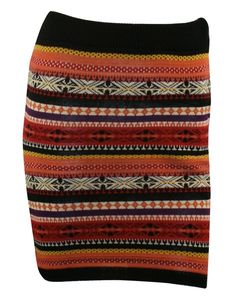 A NAVAJO PRINT KNITTED SKIRT