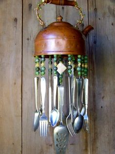 Copper Tea Pot WIndchime. $52.00, via Etsy.