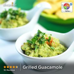 Grilled Guacamole from Allrecipes.com #myplate #dairy #veggies