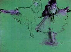 'Bailarines en la Barre', dibujo de Edgar Degas (1834-1917, France)