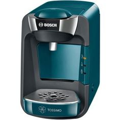 Bosch Tassimo Suny Coffee Machine 1300 watts Removable litre water tank IntellibrewTM System - Patented bar code technology identifies drink selected and adjusts amount of water brewing time and temperature Large variety of high quality hot b Latte Macchiato, Bosch Tassimo, Tassimo Coffee Pods, Home Coffee Machines, Expresso, Small Kitchen Appliances, Diner Kitchen, Bosch Appliances, Shopping