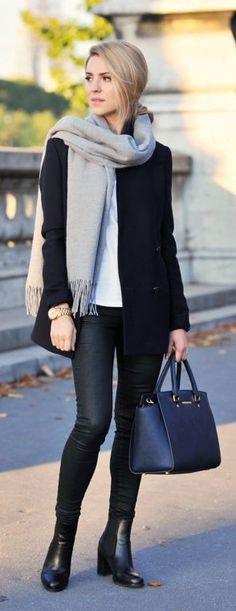 Black skinnies + boots