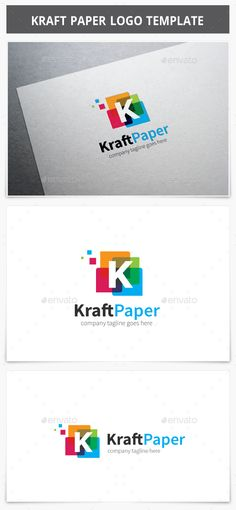 Kraft Paper Logo — Photoshop PSD #square #k logo • Available here → https://graphicriver.net/item/kraft-paper-logo/13371403?ref=pxcr