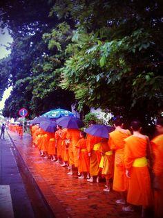 priests at Luang Prabang