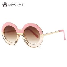 h designer belt 3dyo  AEVOGUE Sunglasses Women Round Frame Arrow Temple Top Quality Classic Sun  Glasses Original Brand Designer UV400