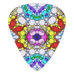 Crazy Abstract Pattern Guitar Picks Guitar Pick #guitar #stringedinstruments #guitarpicks #zazzle