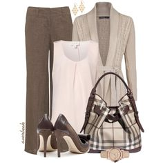 """""""Back to School for Teacher"""" by averbeek on Polyvore Nice but needs a little pop of color for contrast  :)"""