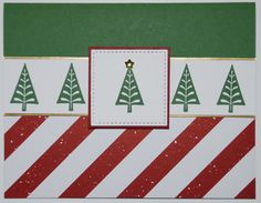 Stampin' Up! - Christmas Card - Be Merry Suite - Merry Mistletoe stamp set - Whisper White, Garden Green, Cherry Cobbler, Gold Foil Sheet, Be Merry DSP - Garden Green - Big Shot, Stitched Shape Framelits - Check out my website for measurements and other ideas