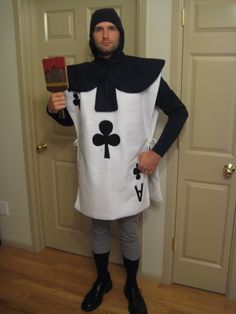 homemade alice in wonderland costume | one more of adam in his home made costume complete with cardboard ...