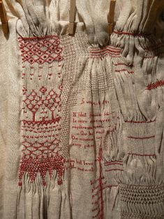 """Un ouvrage sur les smocks seeing my love of smocking gone haywire.topographies- with interludes of """"the arbour"""" Art Fibres Textiles, Textile Fiber Art, Embroidery Art, Embroidery Stitches, White Embroidery, Embroidery Patterns, Fabric Art, Fabric Crafts, Textile Manipulation"""