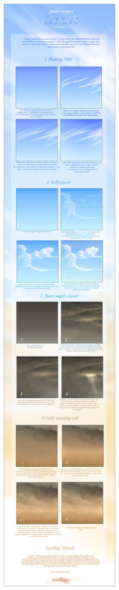 Clouds tutorial by MinnaSundberg on deviantART via PinCG.com