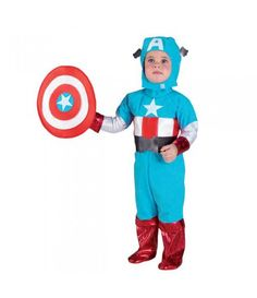 Κάπτεν Αμέρικα στολή σούπερ ήρωα για μικρά αγόρια