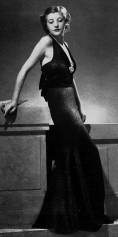 vintage everyday: Vintage French Women's Fashion – 30 Glamorous Evening Dresses (Robe du soir) in the 1930s