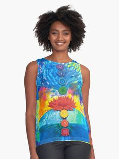 Transforming through the chakras with the symbols of the tree of life and the lotus flower. Lotus Flower, Chakras, Tie Dye, Chiffon, Symbols, Artists, Unique, Fabric, Stuff To Buy