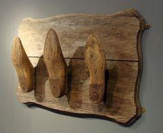 Shoe Last Coat Rack - Astley House Interiors: Antique Shelves, Shoe Molding, Shoe Stretcher, Shoe Horn, Shoe Last, Vintage Crafts, How To Antique Wood, Recycled Crafts, Repurposed