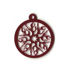 Sun Acrylic Laser Cut Jewelry Necklace Charm SKY254-A