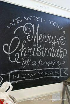 {Ella Claire}: Christmas Chalkboard Template {Tutorial}