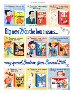 General Mills, 1960// Proof there were Jets!! I craved that cereal with my first baby. Moved to Colorado from Baltimore, Md. and they didn't have it there. Had to settle for AlphaBits.