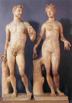 Baccio Bandinelli (Italian, 1488-1560)  Adam and EveMuseo Nazionale del Bargello, Florence