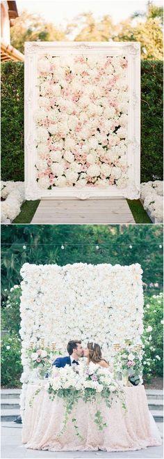 Flower wall wedding arches & alter wedding ideas #weddings #weddingideas / http://www.deerpearlflowers.com/wedding-ceremony-arches-and-altars/2/