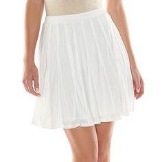 LC Lauren Conrad Skater Skirt in Bright White